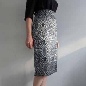 Worthington High-Waisted Patterned Pencil Skirt